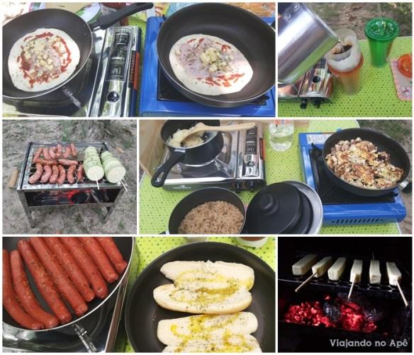 comida refeiçoes almoço janta camping cozinhando no camping