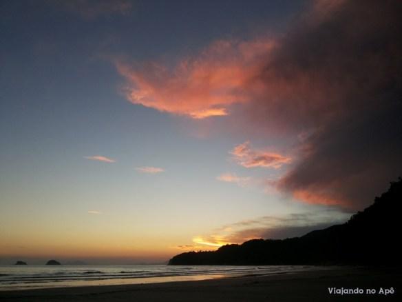 por do sol fim de tarde praia da fazenda ubatuba
