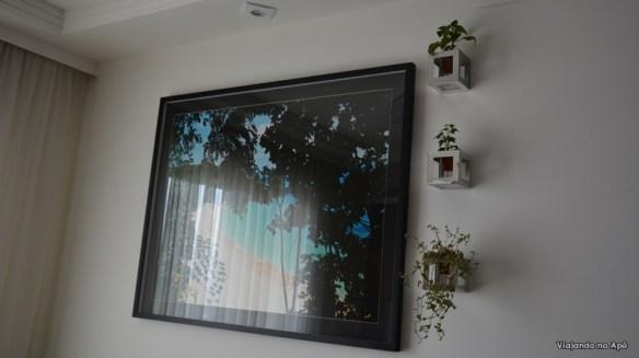 quadros vivos 3d cubos com plantas