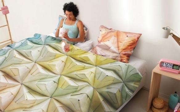 roupa-cama-geogami origami