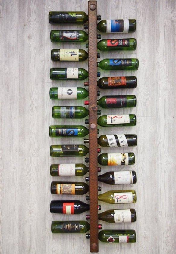 suporte porta vinhos vertical parede