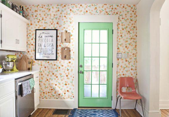 carimbo espuma decoraçao parede