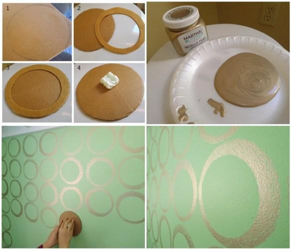 carimbo feltro parede decoraçao 2