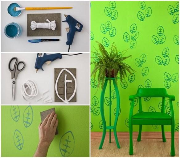 carimbo parede decoraçao decor