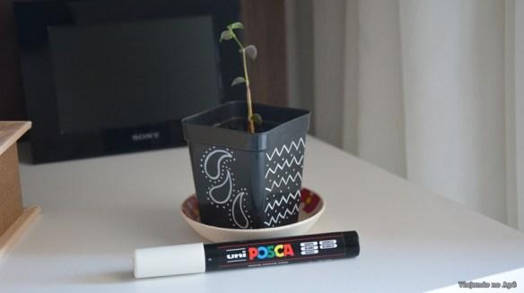 vaso decorado posca 2