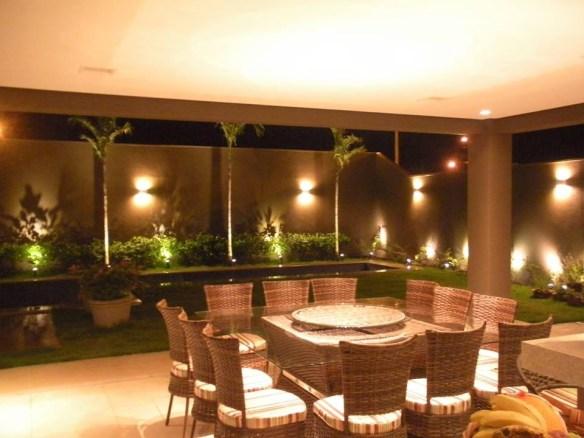 arandela muro jardim iluminaçao piscina