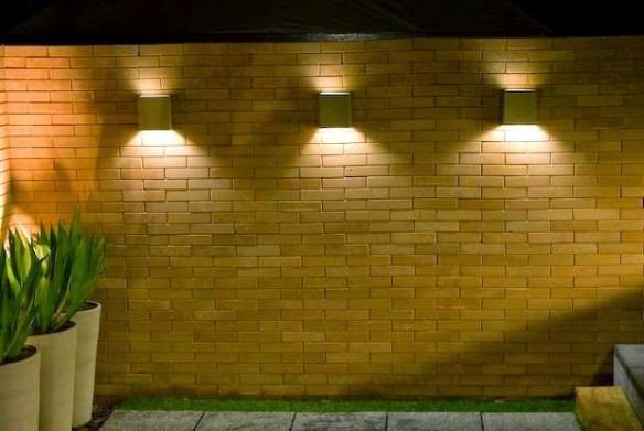 arandelas muro area externa corredor de entrada