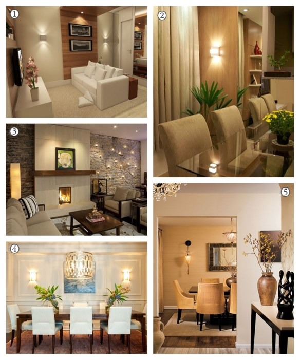 arandelas salas de estar sala de jantar