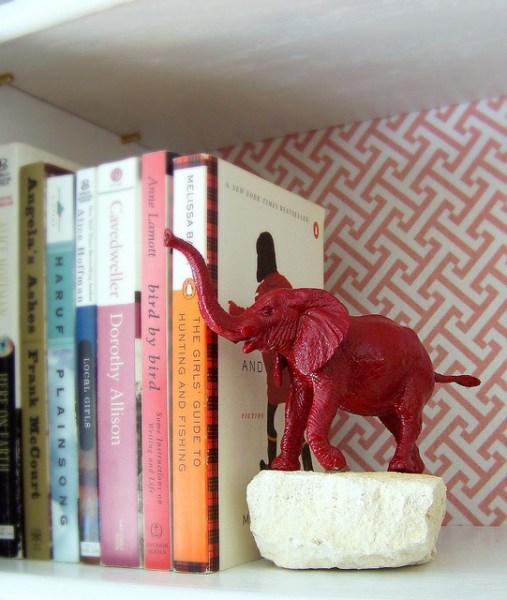 aparador de livro peso para livro animais de plastico pedra diy
