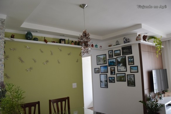 prateleira sala apartamento sala de estar sala de jantar