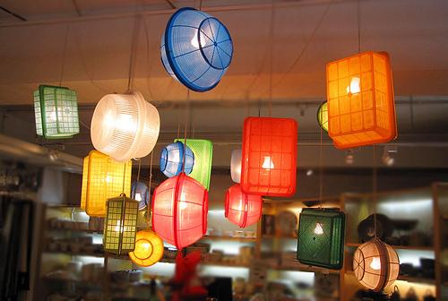 escorredores luminaria reciclar reaproveitar novos usos utensilios domesticos decoracao
