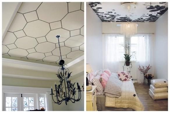 teto decorado decoracao teto papel de parede pintura adesivo