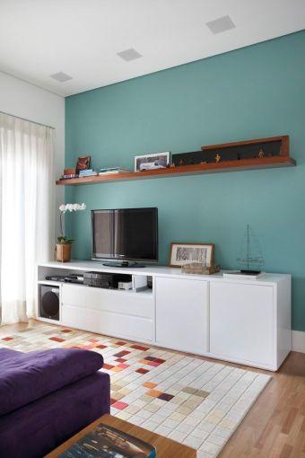 parede azul esverdeada verde azulada decoracao