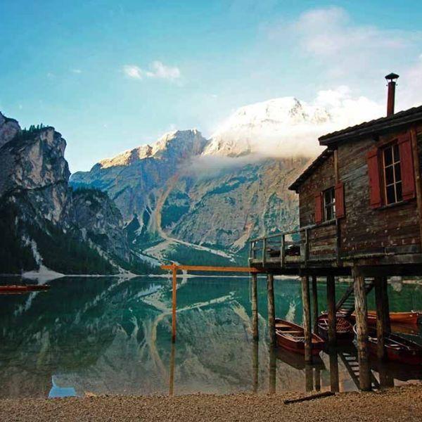 lagos de Dolomitas .Lago di Braies