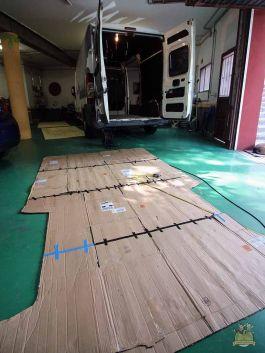 plantilla suelo aislamiento furgoneta