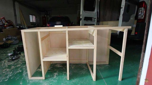 mueble de cocina para la furgoneta