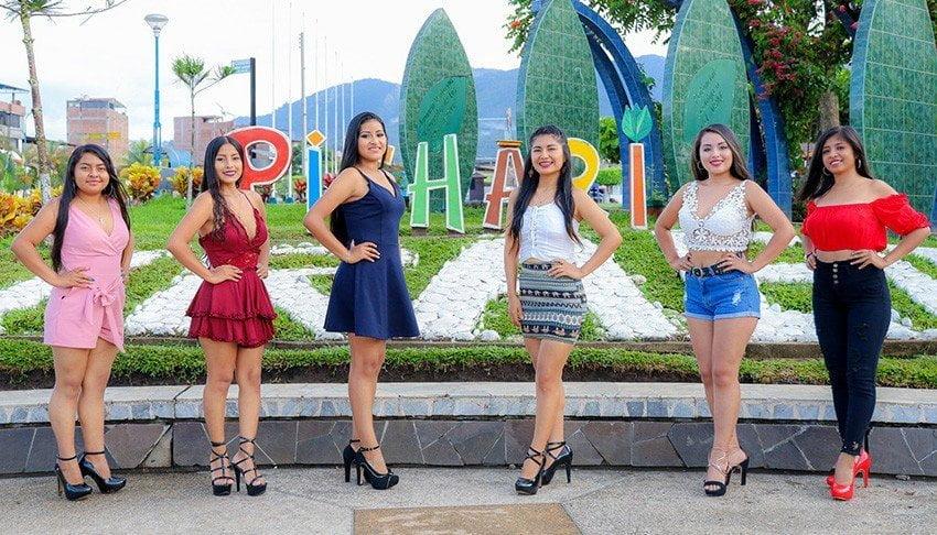 Fotos de las candidatas a Miss Carnaval Pichari 2020