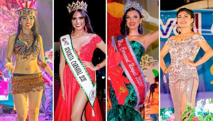 Ellas son las Reinas de los Carnavales 2020 en todo el Perú