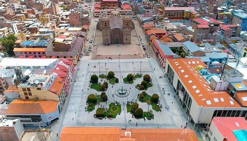 [Fotos] Esta es la remodelada y ahora Plaza Mayor de Puno