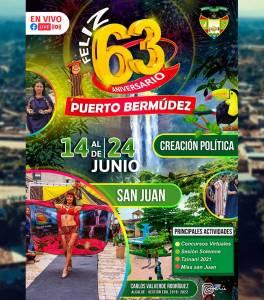 Pasco: Programa del 63 aniversario de Puerto Bermúdez