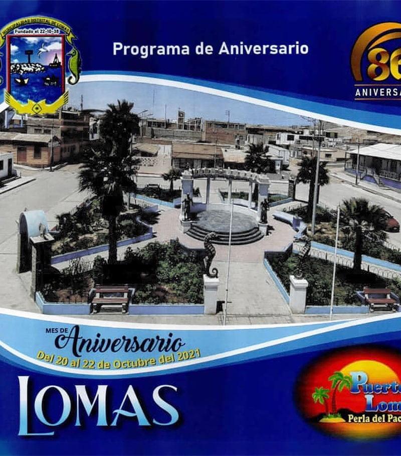 Arequipa: Programa del 86 aniversario del distrito de Lomas