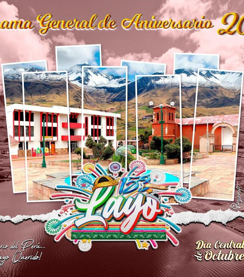 Cusco: Programa del 153 aniversario del distrito de Layo