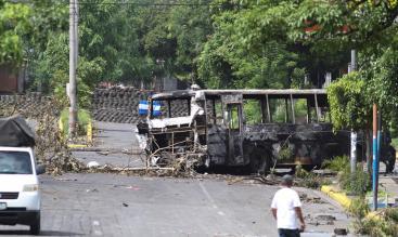- El sector de la Villa Miguel Gutiérrez,llena de barricadas. Oscar Sánchez/END www.elnuevodiario.com.ni-