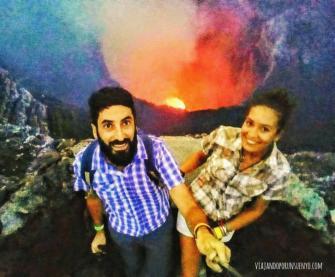 Volcan masaya, nicaragua carol y juan viajando por un sueño