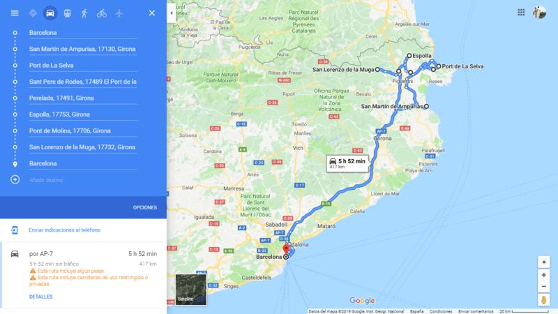 Barcelona coche viajando por un sueño
