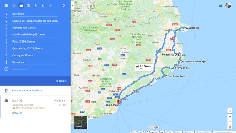 ruta 03 Barcelona coche viajando por un sueño