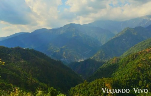A las afueras de Dharamsala en el norte de India