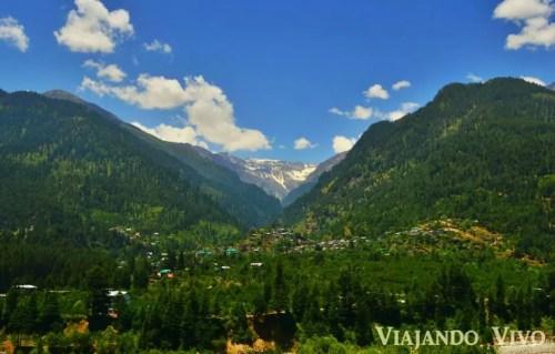 El Valle de Manali en el norte de India