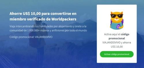 Descuento para hacer voluntariado con worldpackers