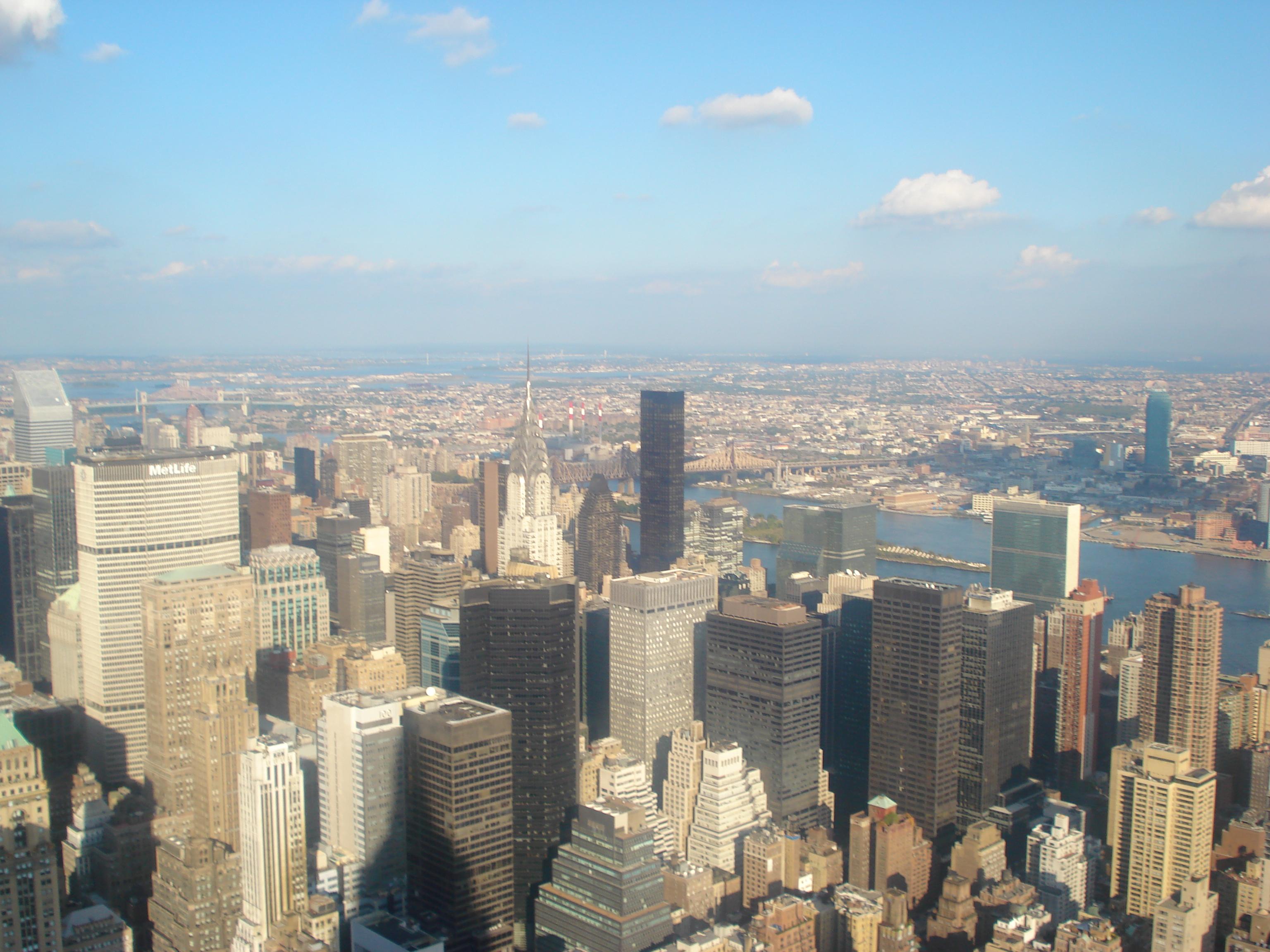 NY vista do Empire State