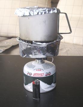 Pantalla cortaviento para quemador de gas
