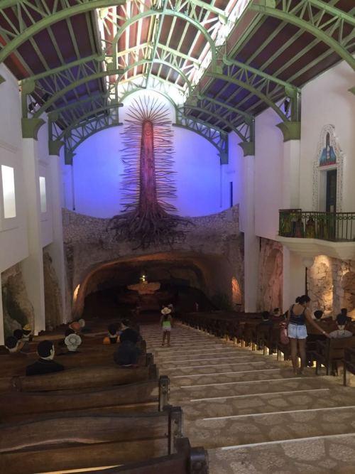 Iglesia de Guadalupe en el Parque Xcaret