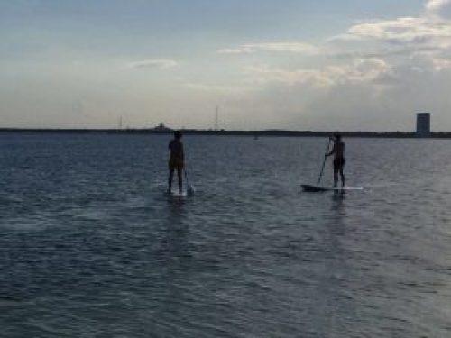 En Riviera Maya hay muchas cosas que hacer con niños, como el paddle surf