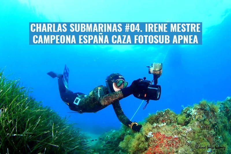 charlas submarinas irene mestre cramp fotografia submarina apnea cazafotosub