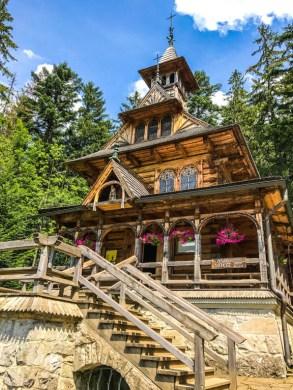 Capilla de madera en Zakopane Polonia