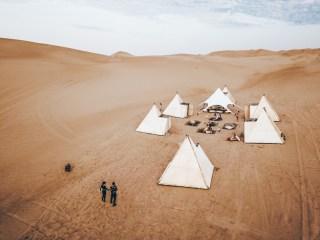 glamping en el desierto dunas de Paracas en Ica Peru