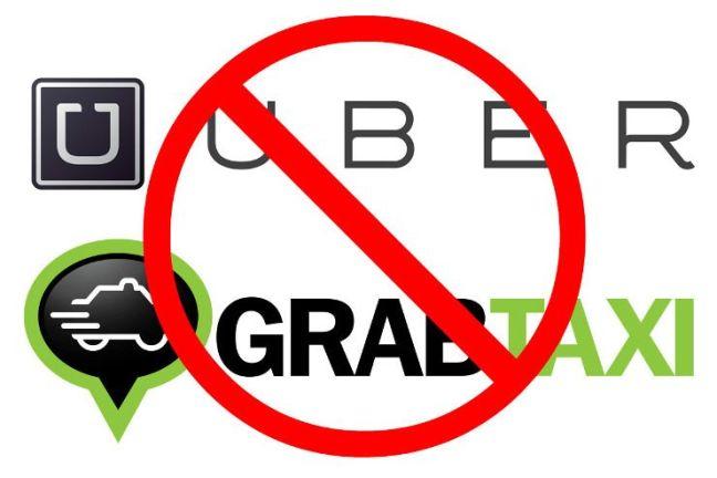 Taxis Uber y Grab en Bali están prohibidos