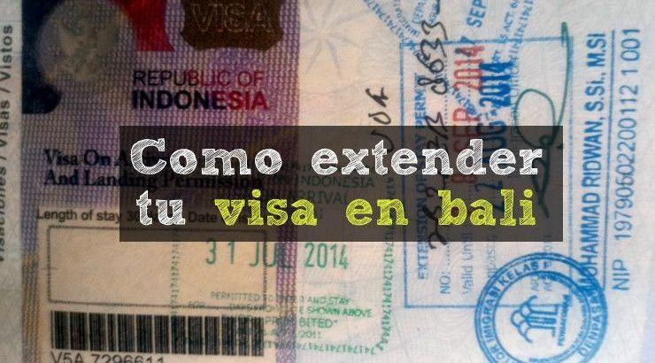 como extender la visa en Bali