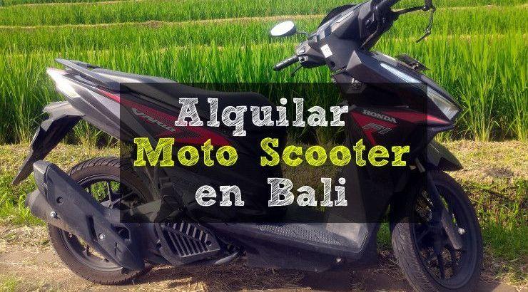 Donde alquilar moto en bali