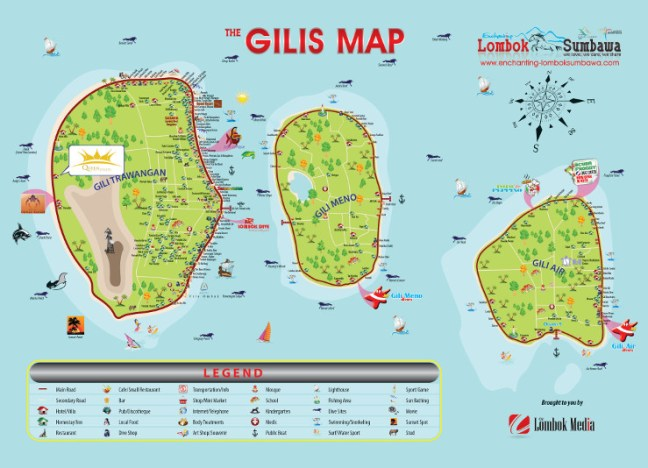 Mapa Islas Gili