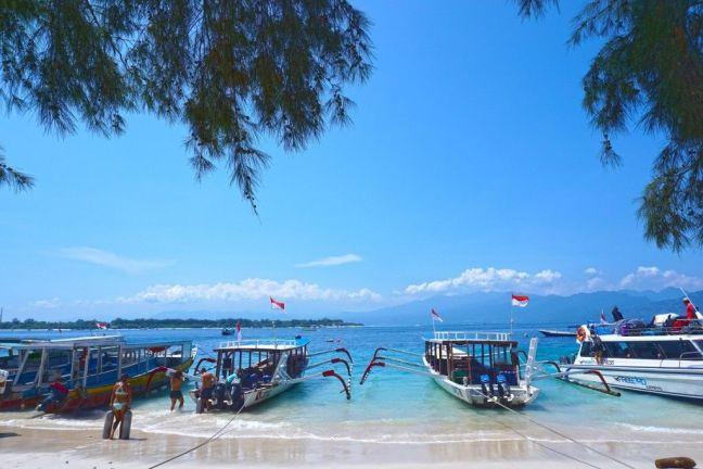 Barcos tour snorkeling islas Gili