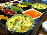 Comida sana en el restaurante del Hotel Neptuno
