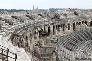 Vista del anfiteatro desde las graderías más altas