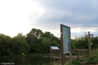 Mirador sobre el tramo final del río Ter