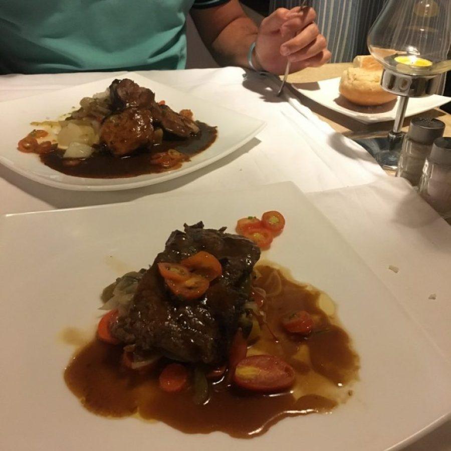 Cenando en el restaurante top de Meliá Cayo Guillermo