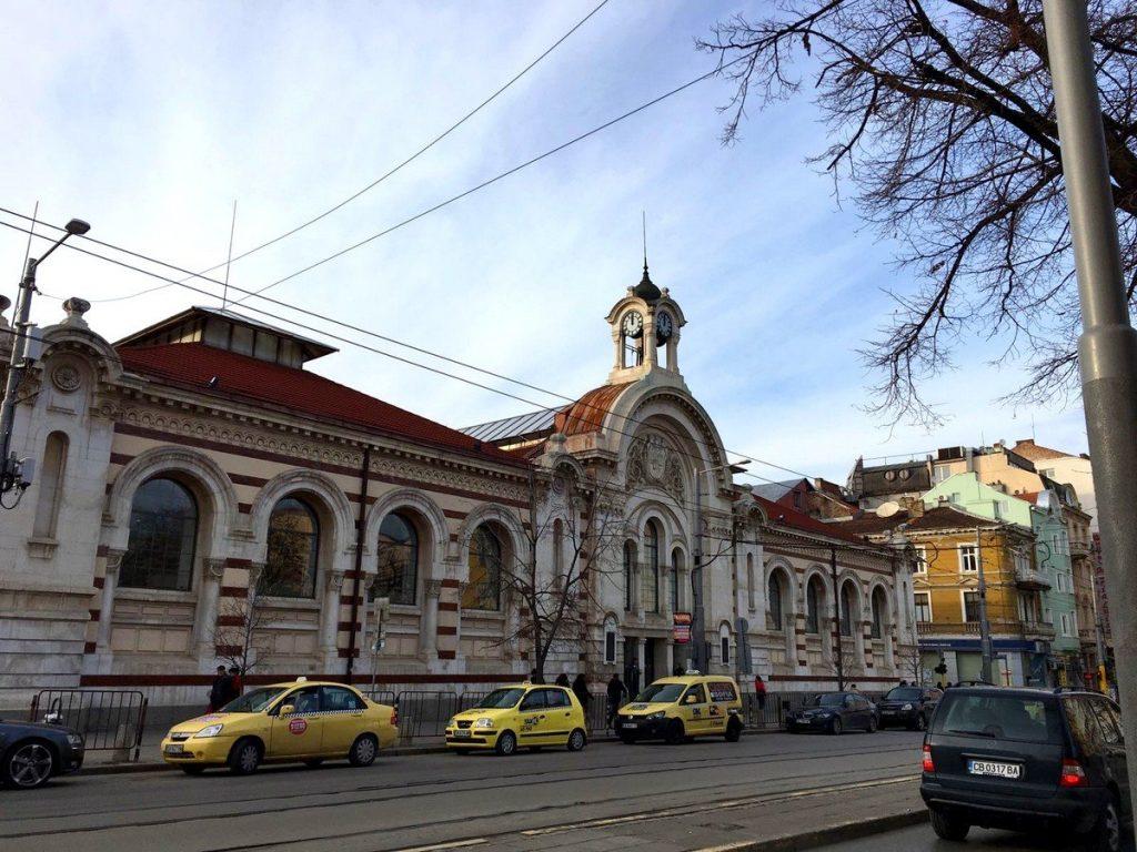 La fachada del Mercado Central de Sofía